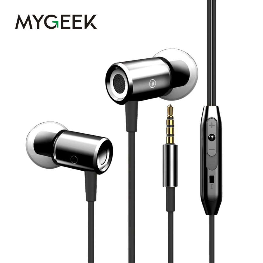 MyGeek 3.5mm Stereo Earphone Super Bass Headset with Mic for Mobile Phone iphone xiaomi huawei samsung Earphone rock y10 stereo headphone earphone microphone stereo bass wired headset for music computer game with mic