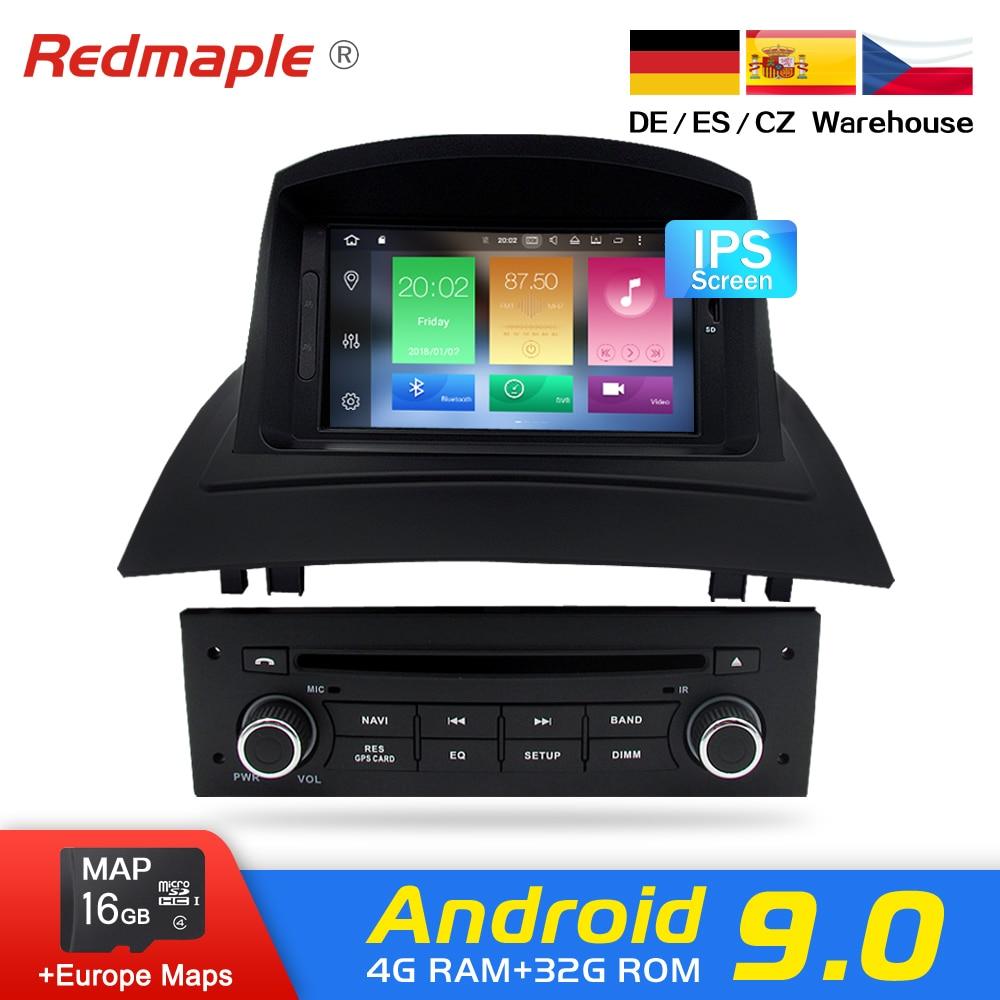 4g ram android 9.0 rádio do carro dvd gps reprodutor multimídia para renault megane 2 fluence 2002-2008 auto navegação unidade principal estéreo