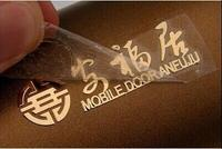 Custom Hollow Out Metallic Sticker Shining Gold Or Silver Metal Strong Back Glue Separated Film Cover