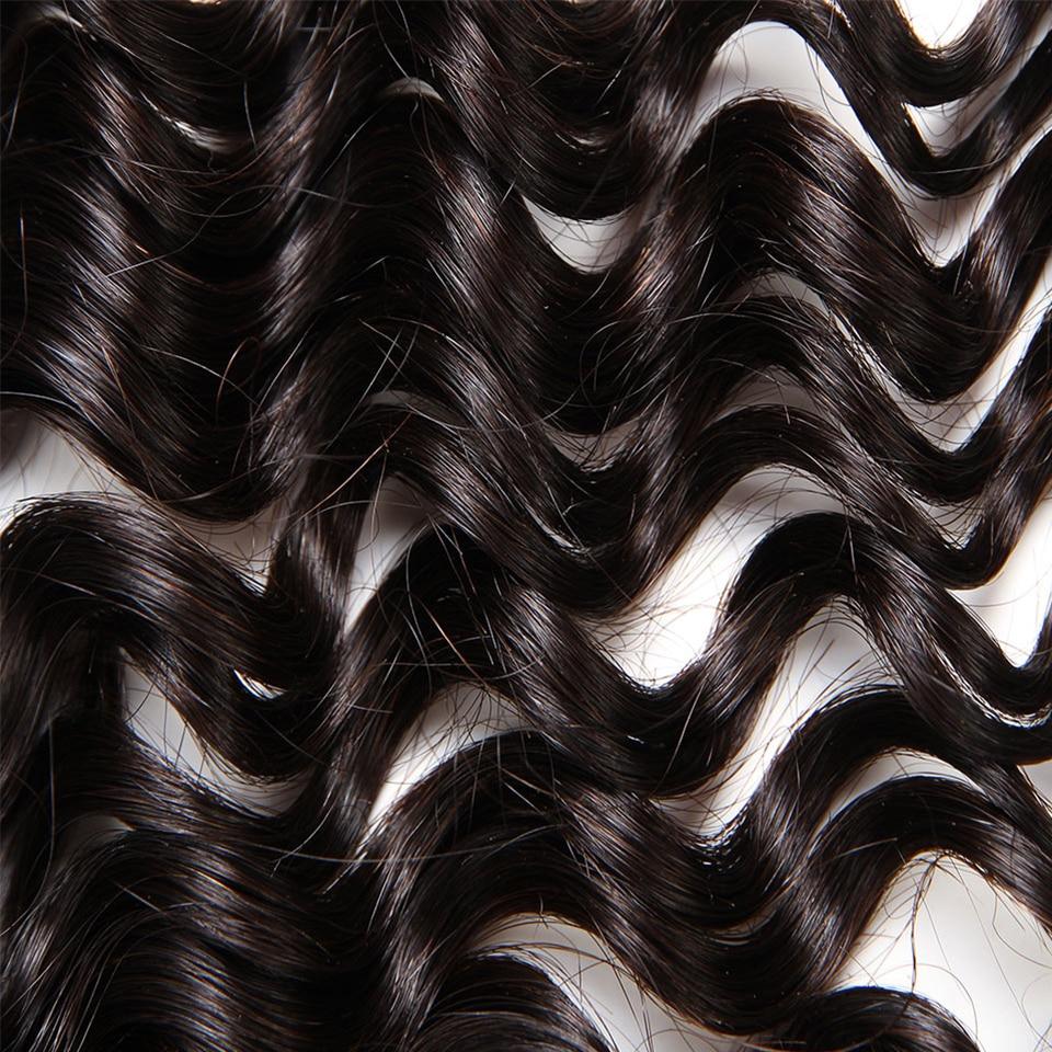 Sleek Hair 10 To 30 Inch Brazilian Bulk Deep Wave Human Hair Extention Natural Color 4 Bundles Deal Remy Human Crochet Hair