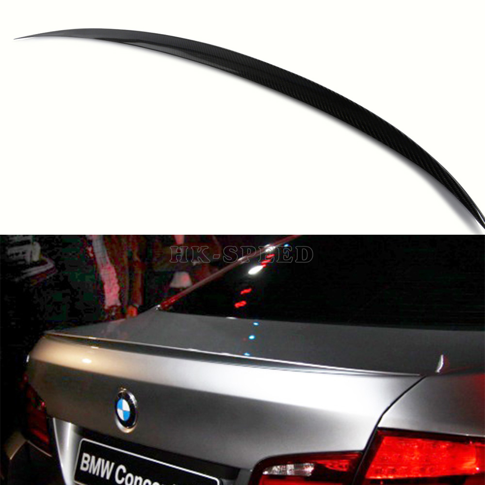 F10 5 series m style carbon fiber rear trunk spoiler for bmw f10 2010 2013