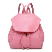 Colourful PU Leather Preppy Style Backpack For Teenage Girls Women SchoolBag Maiden Daily Shopping Bag Rucksack