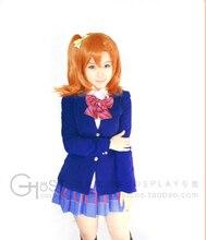 Conjunto completo lovelive Kousaka Honoka Cosplay Anime Japonés uniforme de halloween 4 en 1 capa + blusa + falda + pajarita
