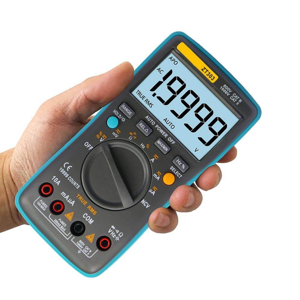 19999 Counts Digital Multimeter Hand-held Multimetro LCD Display Backlight AC DC Voltage Ammeter Current Ohm