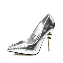 Fashion Pointed Toe Women's Sexy Shoes High Heels Rivet Pumps Women Prom Party Shoes Ladies