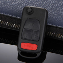 4 Buttons Car Key Folding Replacement Fob Entry Remote Flip Shell Case For Mercedes-Benz ML320 ML55 AMG C230 Car-covers