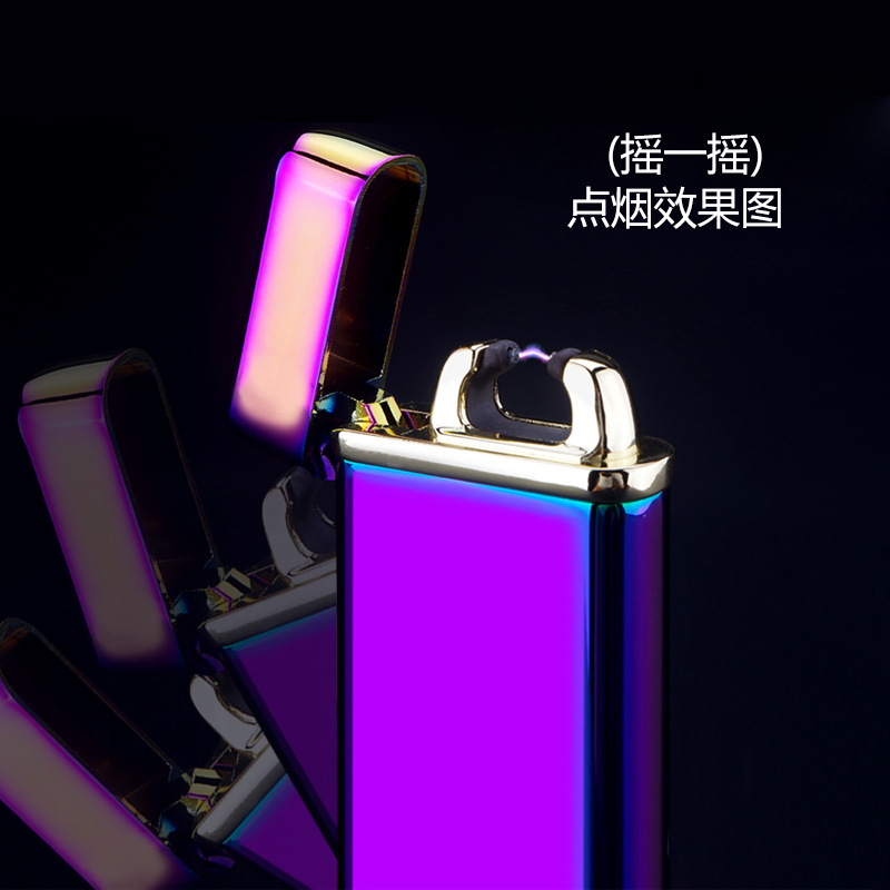 20167Energy saving rechargeable electronic cigarette lighter usb business gifts advertising lighters free shipping LH0393