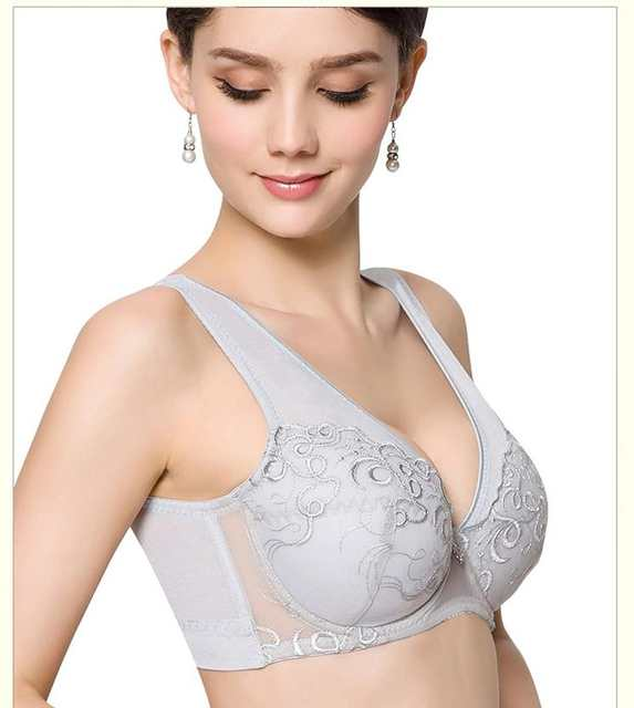 1cf8e15174b Online Shop Plus size Push up Ultra thin Sexy Large Cup Big Size Bra ...