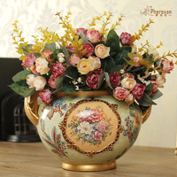 Furong Shengshi European ceramic flower bottle Home Furnishing wedding ornaments gifts housewarming living room decor