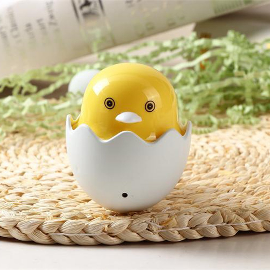 Hot 1pc EU Plug Wall Socket Lamps LED Luz de noche AC 220V Light Control Sensor Yellow Duck Bedroom Lamp Gift for Children Cute
