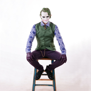 Image 3 - Batman Dark Knight Joker คอสเพลย์ชุดเต็มรูปแบบชุดผู้ชายฮาโลวีนเครื่องแต่งกายแฟนซีชุดที่กำหนดเองทำ