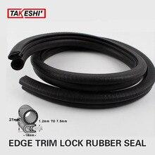 05# 27x18cm Rubber 39″ 100cm Car Boat Interior & Exterior durable With metal Lock EDGE TRIM Seal Strip Waterproof Universal