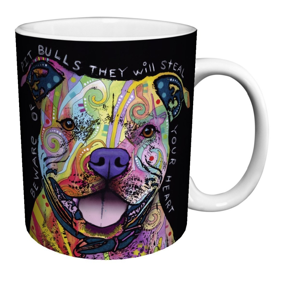 pit bull Dog mugs pitbull mug coffee pug mugs ceramic Tea mugen Dishwasher Microwave Safe porcelain
