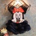 Nuevo 2016 verano muchacha de los niños de vestido traje de Minnie Mouse que arropan los niños princesa ropa las muchachas navidad del vestido de partido