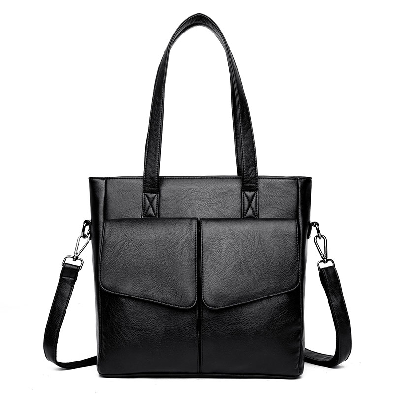New High Capacity Women Soft Messenger Bag Casual All Match PU Leather Female Handbag Fashion Daily Ladies Tote Shoulder Bags new style lock catch diamond lattice chain women messenger bags fashion all match shoulder bags soft genuine leather women bag