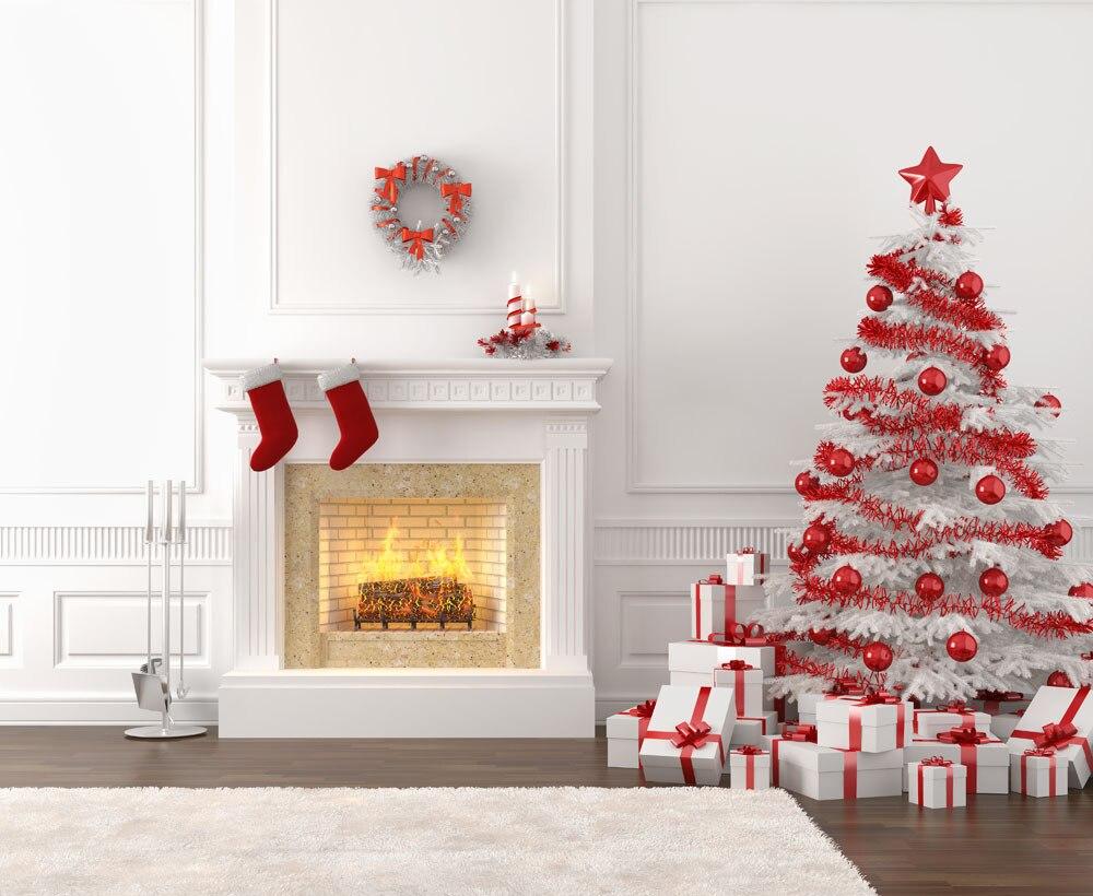 SHENGYONGBAO Mākslas audums Pielāgota fotogrāfija Backdrops Prop Ziemassvētku dienas tēma Foto studijas fona YJFM20