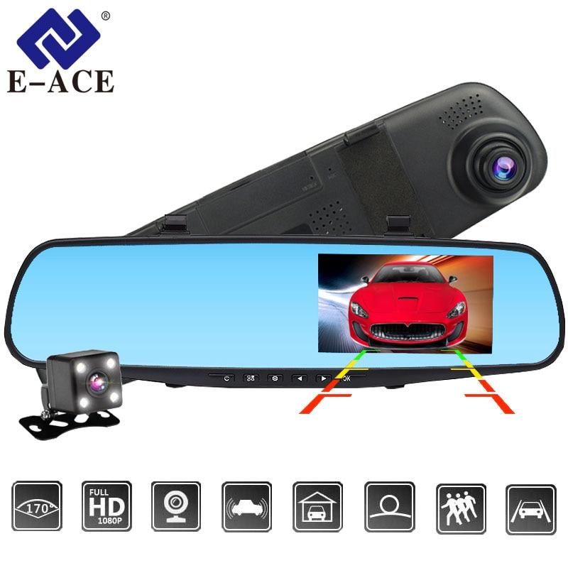E ACE Dvr Dash font b Camera b font Car Dvr mirror FHD 1080P 4 3