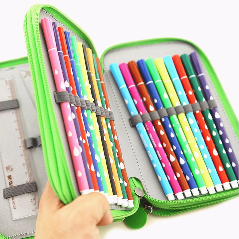 Multi-Layers 72 Slots Pencil Case Cute Owl Tree Dazzle Colour Cardboard Pencil Case School Stationery Box Children Gift цена