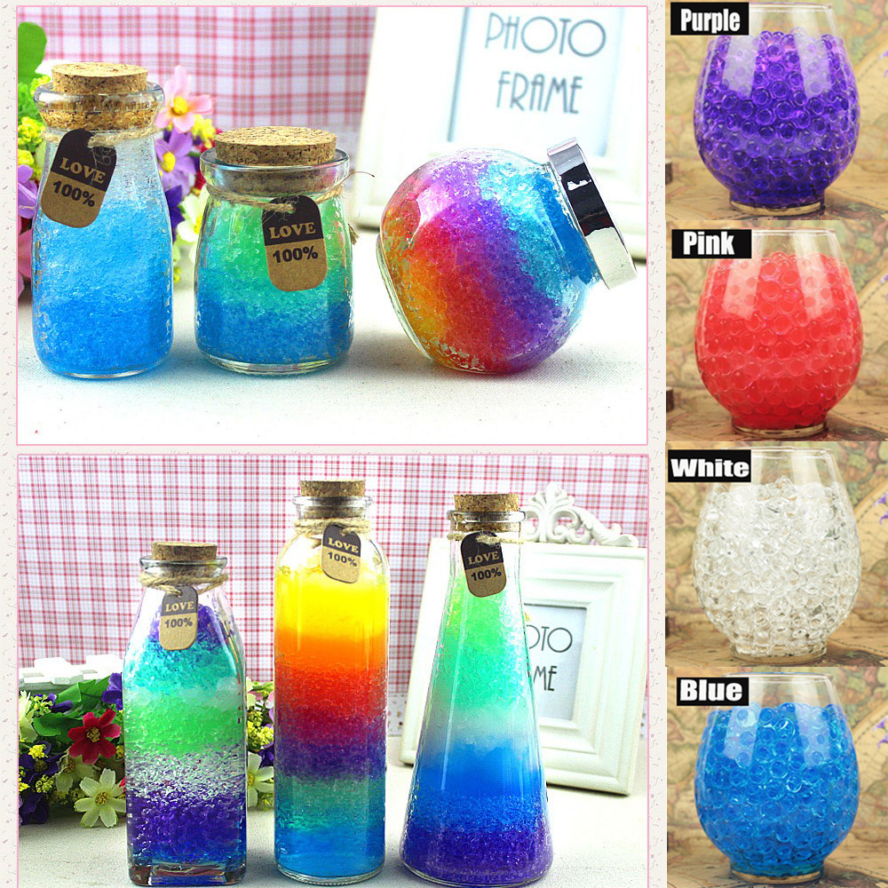Purple Water Beads Gel Balls Wedding Table Decor Christmas Vase Decor 10gm Bag