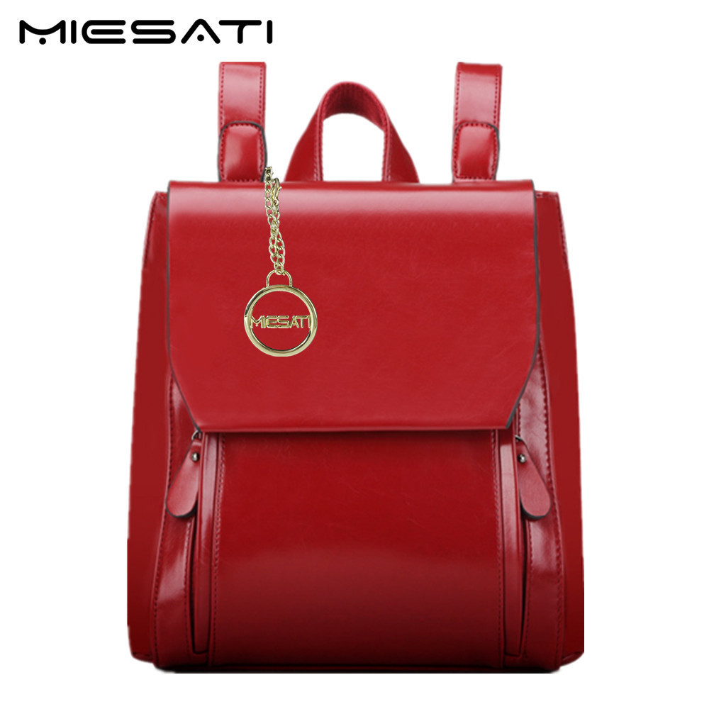 MIESATI Women Backpack School Bags For Girls Leather Backpack Women Bag Fashion Brand Design Travel Bag Back To School Bag