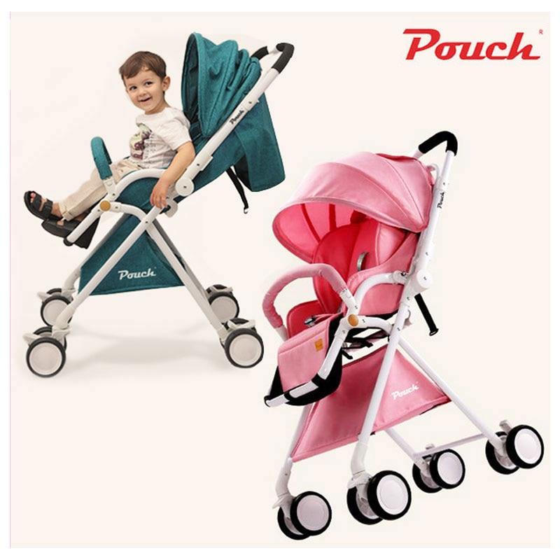Pochette quatre roues voyage bébé poussette haut paysage Portable peut s'asseoir Lie léger été pliant landau landau 0 ~ 3 Y