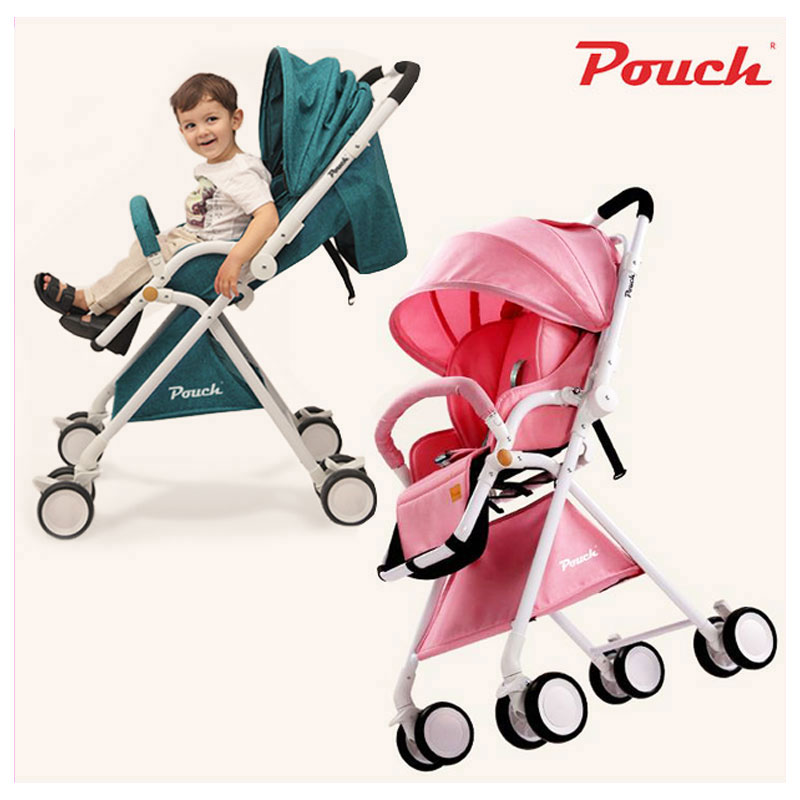 837f04604007 Pouch Four Wheels Travel Baby Stroller High Landscape Portable Can Sit Lie  Lightweight Summer Folding Carriage Pram 0~3 Y