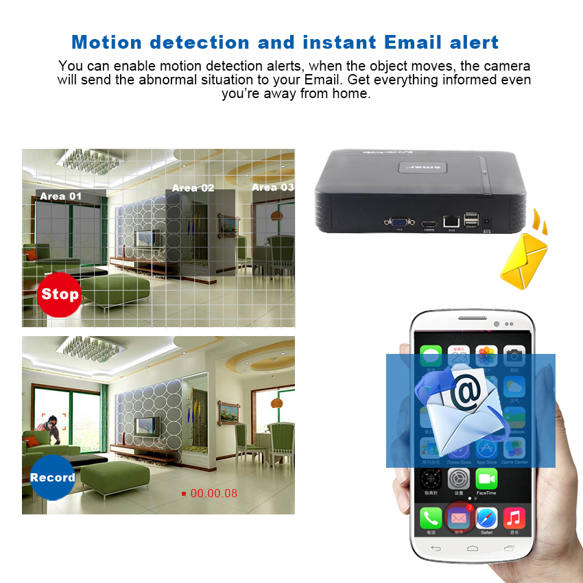 Smar Newest Mini NVR Full HD 4 Ch 8 Ch H.265 Security Standalone CCTV NVR 1080P 4CH 8CH ONVIF 2.0 For IP Camera System 1080P 4
