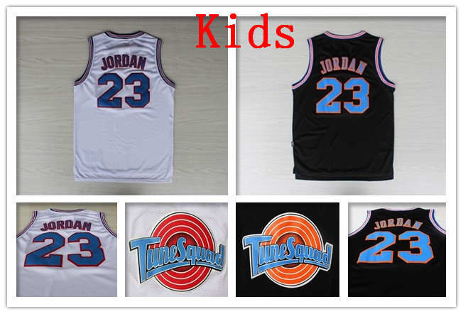 0d52fa22a65 Kids Michael Jordan #23 Space Jam Jersey White Basketball Jerseys Tune  Squad Jersey LOONEY TOONES Youth Top Mesh Embroidery Logo-in Basketball  Jerseys from ...
