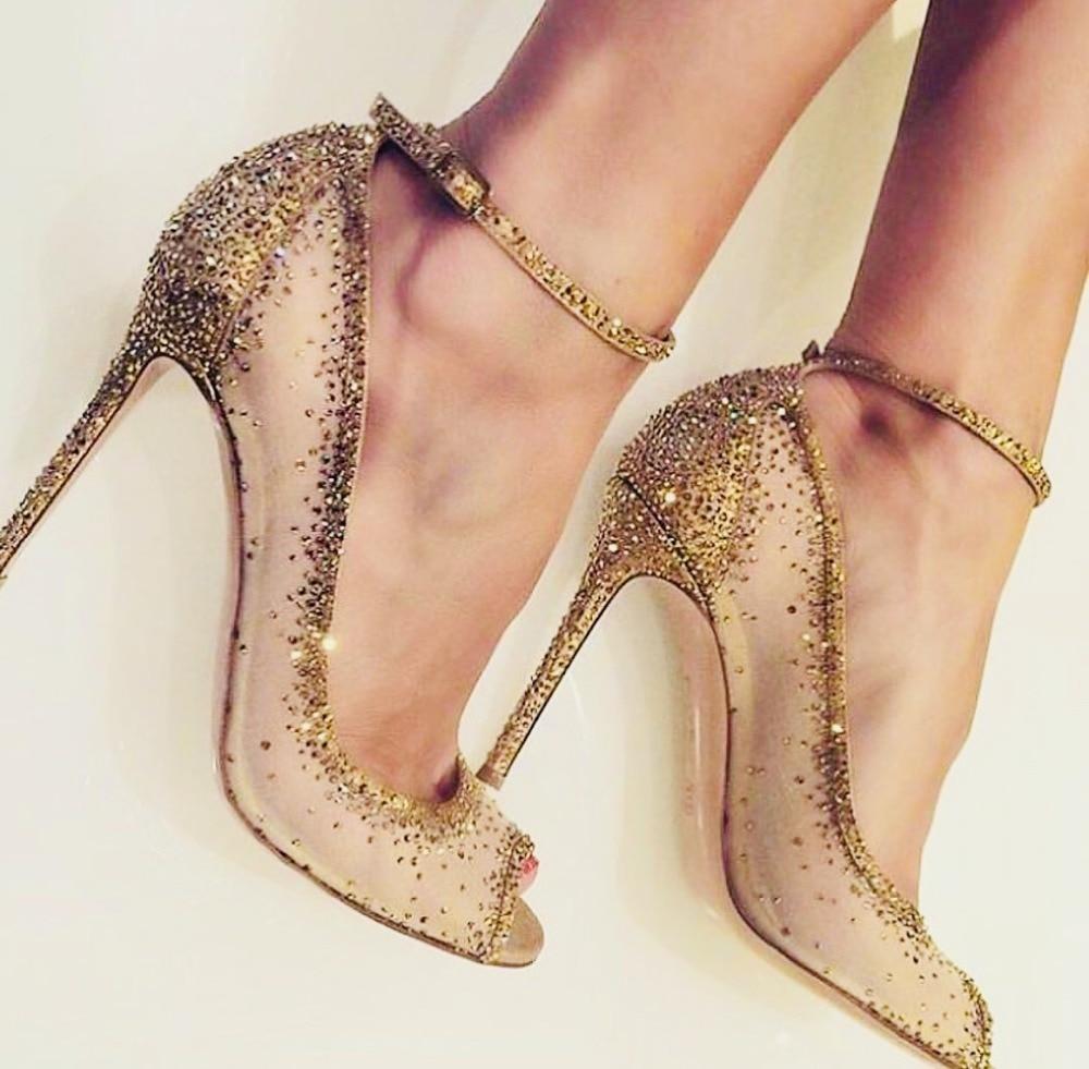Moraima Snc Crystal Embellished Gold