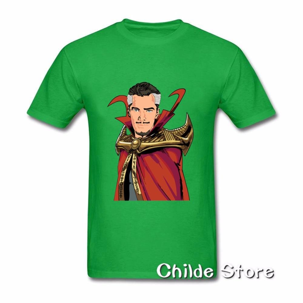 Superhero Doctor Strange men's T Shirts Movie TV Cartoon comics Top Tees Dr.Stephen Mystery Super hero Unique Draw t-shirt men