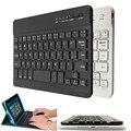 La mejor promoción de Ultra delgado Multimedia de aluminio de Bluetooth inalámbrico teclado para IOS Android PC para Windows para el Ipad aire 3 Mini 2
