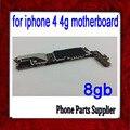 8 gb para iphone 4 4g mainboard, original & desbloqueado boa qualidade para iphone 4 motherboard com batatas fritas, frete grátis