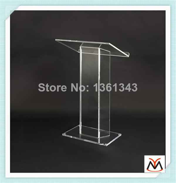 Hot Selling/Custom Modern Acrylic Lectern/Clear Pmma Dais/School Podium