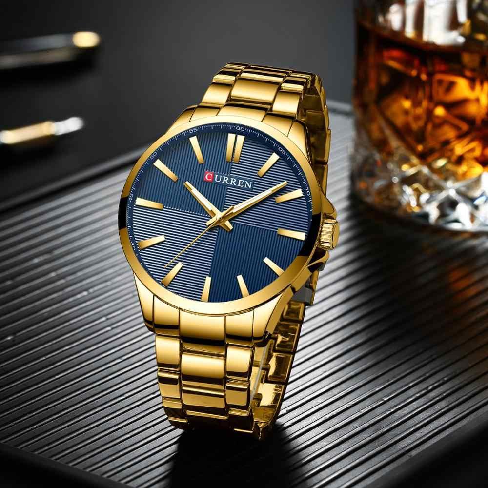 גברים שעונים מותג יוקרה זהב נירוסטה בנד CURREN יוקרה קוורץ שעון Mens עמיד למים איש עסקי Relogio Masculino