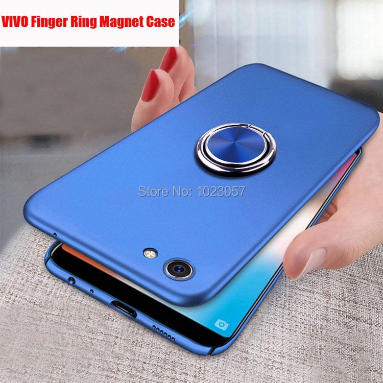 360 Degree Ring Finger Holder Car Magnet Phone <font><b>Case</b></font> <font><b>Vivo</b></font> Y81 V11 <font><b>Y83</b></font> Pro Y85 V9 Y71 Stand <font><b>Case</b></font> For <font><b>Vivo</b></font> Y81 V11 V11 Pro image