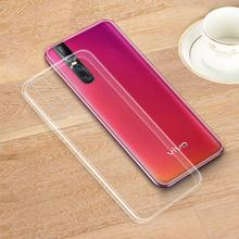 For vivo X27/V15/V15 Pro/iQOO Case Slim Clear Transparent Crystal Soft TPU Silicone Gel Phone Protection Back Cover Shell