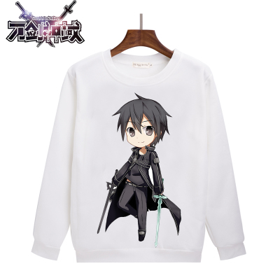 Sword Art Online anime capless sweatshirt tumblr men women print hoodie Japan winter tracksuit harajuku survetement H007