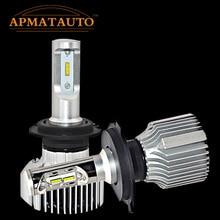 1pcs 45W 10800LM 6000K H7 H4 HB2 9003 High Low Beam  White  LED Headlight Kit  Car Motocycle Automobile SUV Fog Light 12V