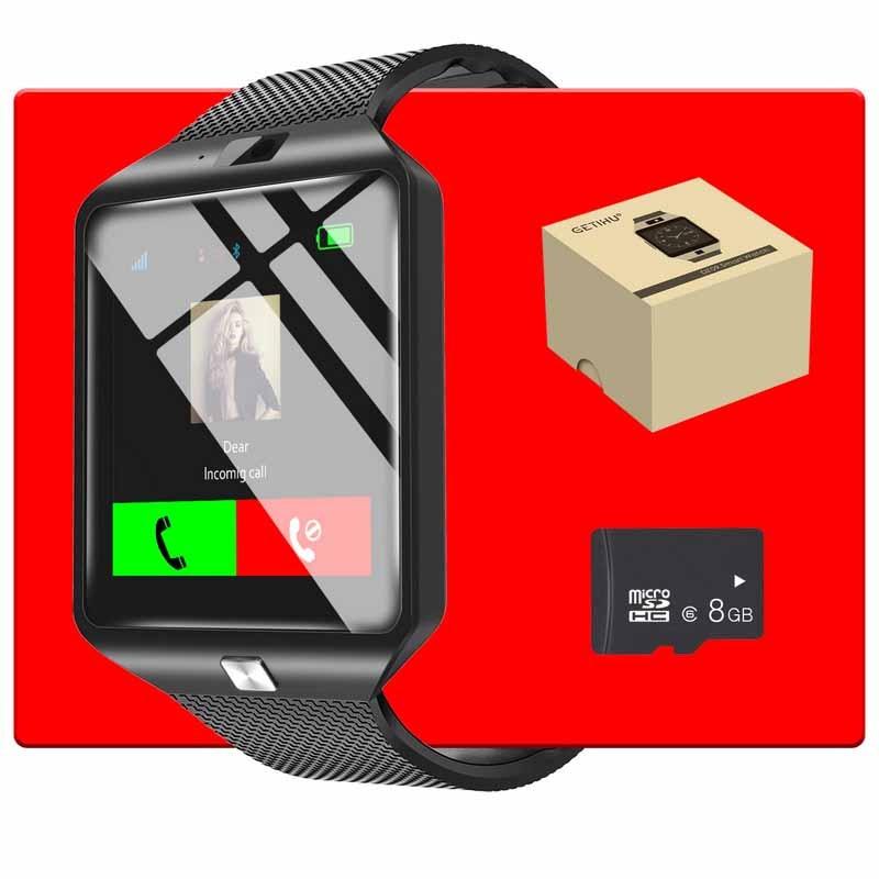 978ea21cf6b GETIHU DZ09 Relógio Inteligente Bluetooth Smartwatch relógio de Pulso  Digital Sport Watch Relógio Do SIM Do Telefone Com Câmera Para Apple iPhone  Android ...