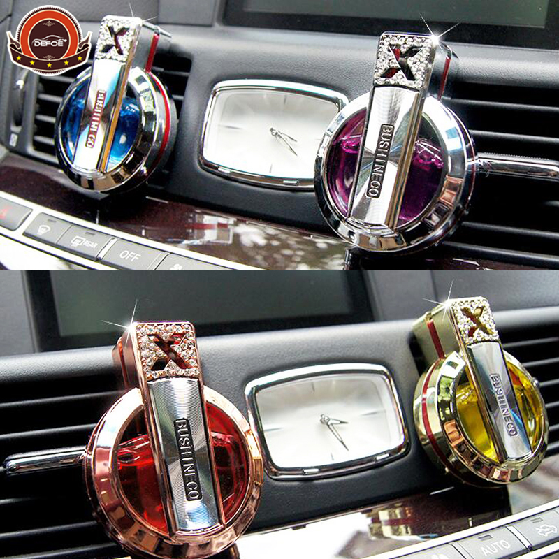 New design car perfume bottle seat Car air conditioning freshener Improve air best gift size 70 * 20 * 55 mm free shipping