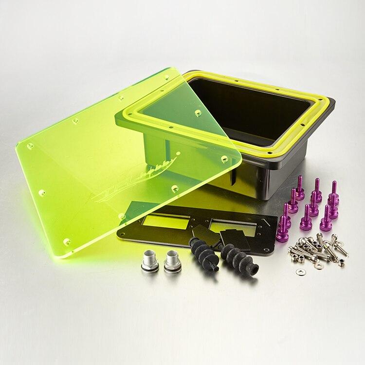 1 Set boîte d'équipement étanche avec écrous à vis soufflet en caoutchouc et couvercle de cabine de Base pièces de Base Servo pour bateau à essence RC 26CC 30CC