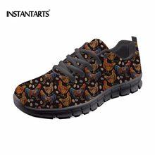 ed95b7e6cdbe INSTANTARTS Adorable Poulet Fleur Sneakers Femmes Chaussures de Course  Sports de Plein Air Chaussures pour Hommes