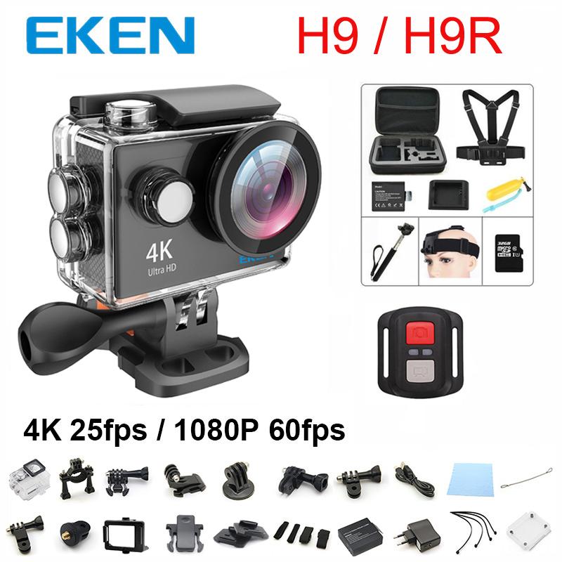 Prix pour Nouveau 100% D'origine EKEN H9/H9R d'action caméra 4 K wifi Ultra HD 1080 p 60fps 170D 30 M étanche mini sport caméra 2.0» écran