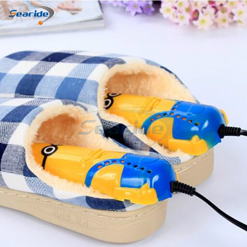 Searide Shoe Dryer for Minions Shoe Feet Deodorant Shoes Sterilization Telescopic Section Drying Heater Warmers telescopic stretching retractable shoe dryer for shoes deodorant warmers dehumidifier sterilization sterilizer shoe heater