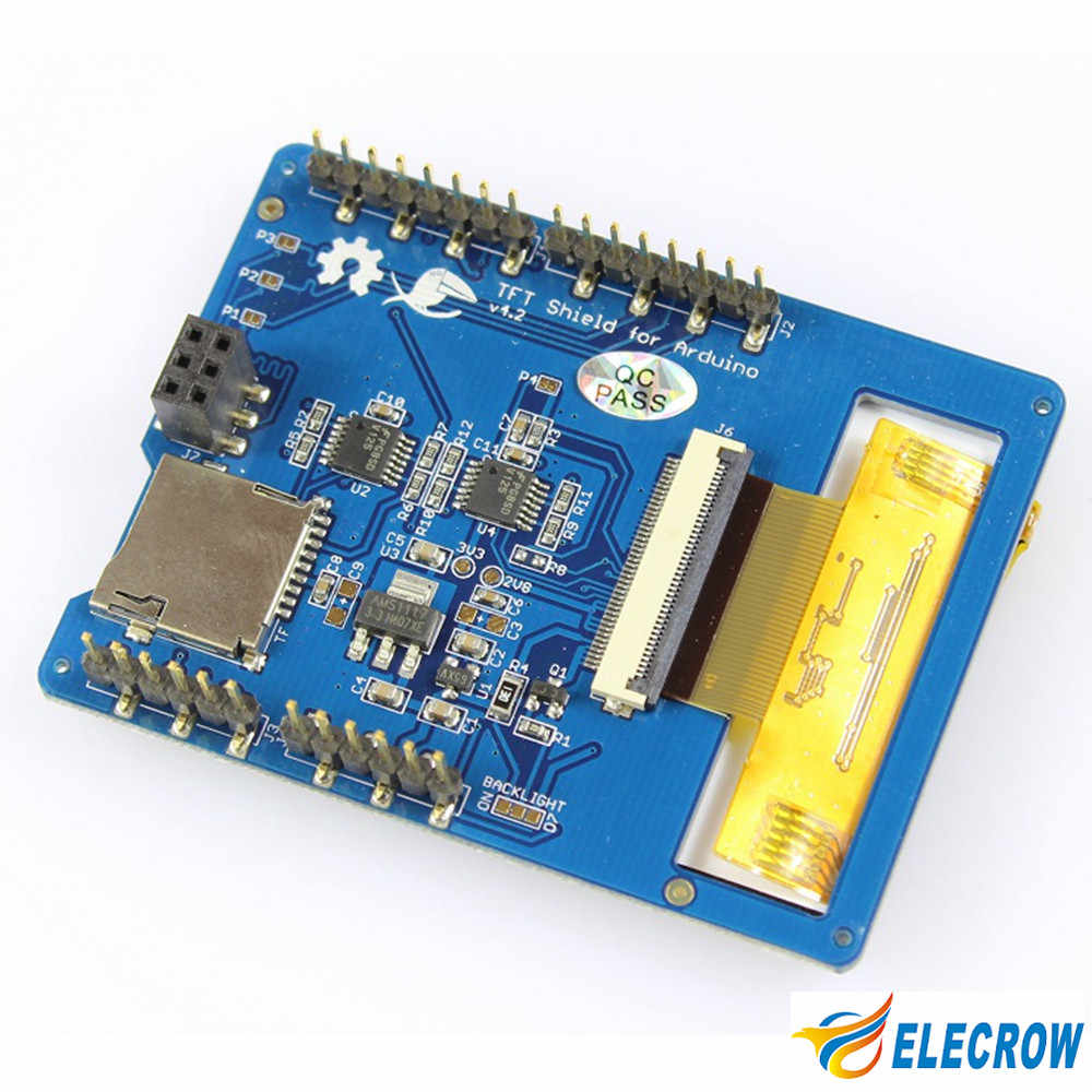 """Écran tactile Elecrow 2.8 pouces TFT V4.3 pour Modules LCD Arduino Mega 240x320 écran TFT 2.8 """"avec kit de bricolage carte SD"""