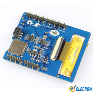 "Image 5 - לelecrow 2.8 אינץ TFT מגע מגן V4.3 עבור Arduino מגה 240x320 LCD מודולים 2.8 ""TFT תצוגת עם SD כרטיס DIY קיט"
