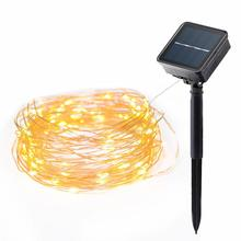 22M Solar String Lights 200 LED Garlands Fairy Light Xmas Copper Wire Light Christmas Garden LED Lamp Holiday Decoration Wedding 10 led solar power lantern shaped string light fairy xmas garden lamp for outdoor holiday decoration