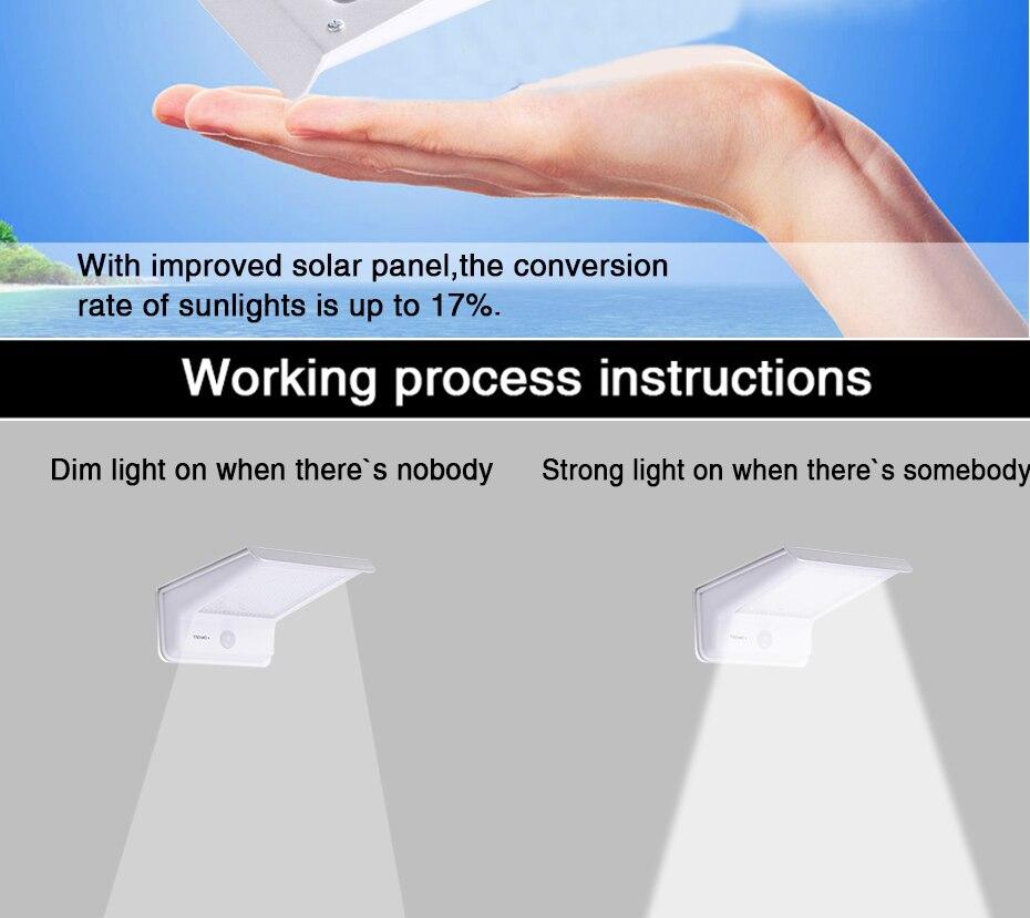 de movimento pir painéis da lâmpada solar