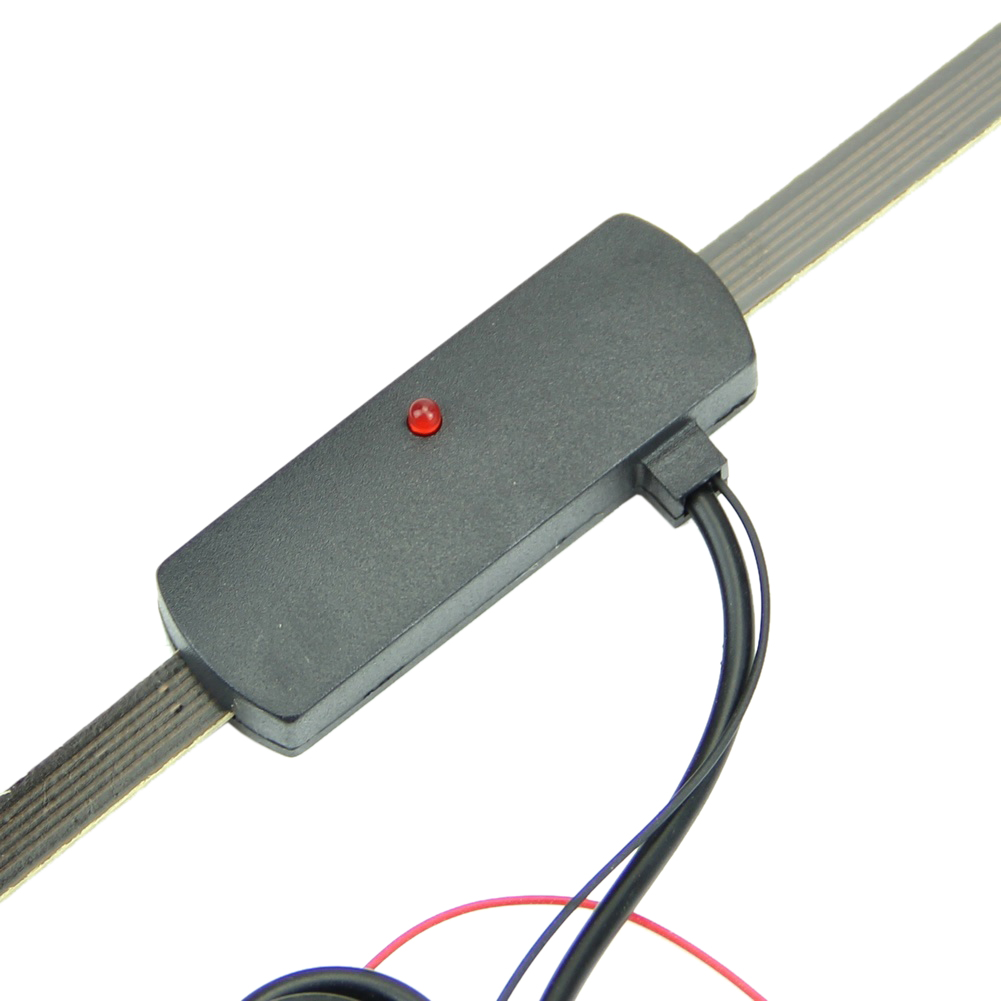 Car Auto Windshield Electronic Mount Self Adhesive Base TV FM Radio Antenna 12V