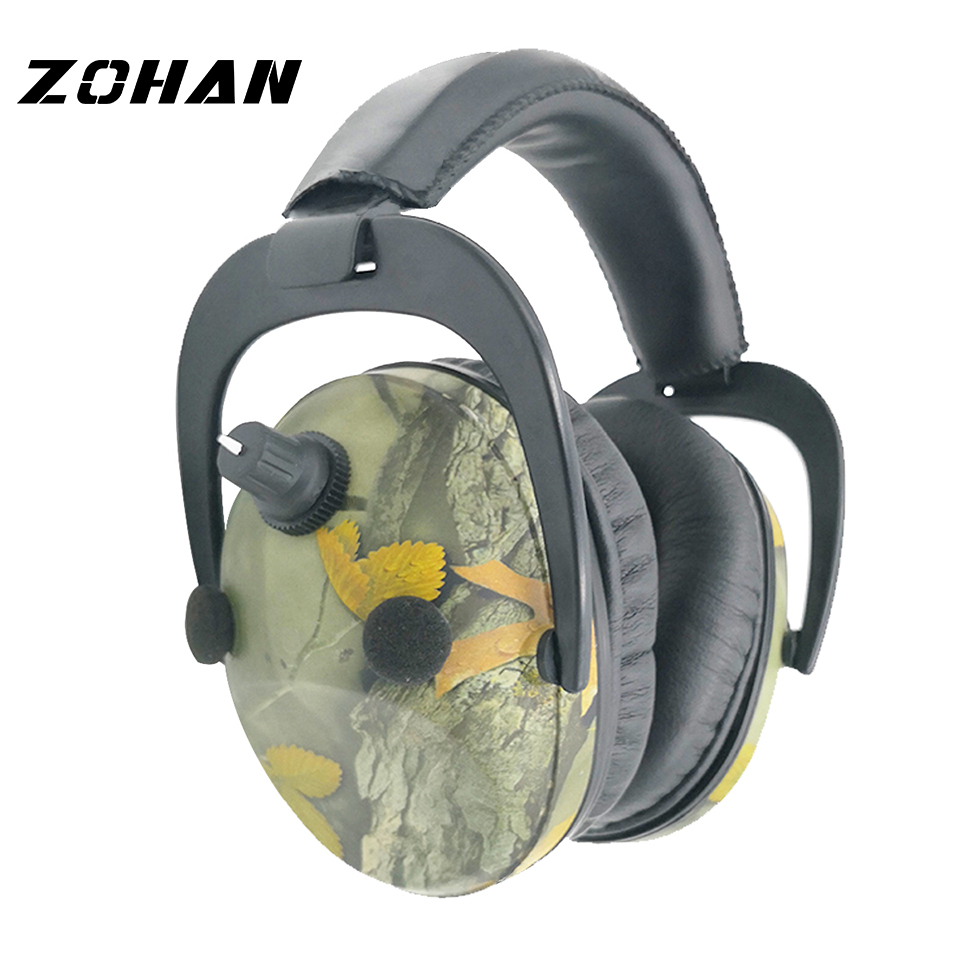 ZOHAN Электронные Наушники NRR 23DB тактическая гарнитура для Охота электроники защиты слуха наушники женщин шум снижение ушной разъем